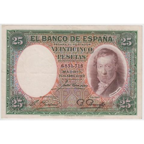 1931. 25 Ptas Vicente López