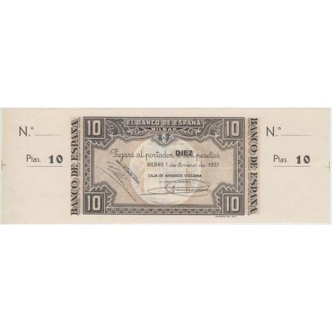 1937. 10 Ptas Banco España (Bilbao)