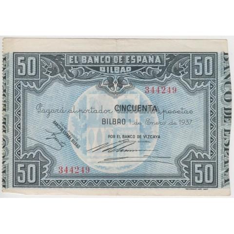 1937. 50 Ptas Banco España (Bilbao)
