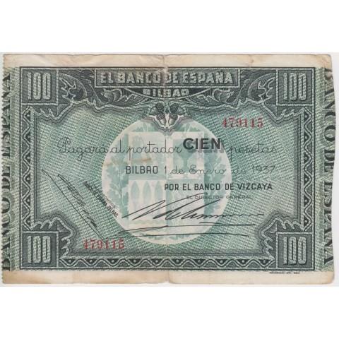 1937. 100 Ptas Banco España (Bilbao)