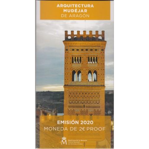 "2020. 2 euros ""Mudéjar Aragón"" proof"