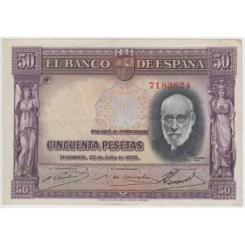 1935. 50 Ptas Ramón y Cajal