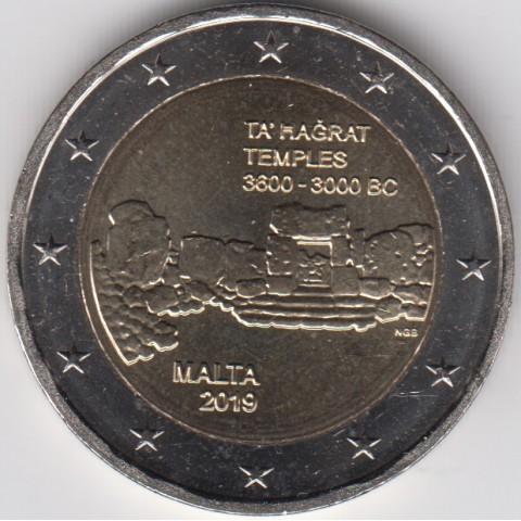 """2019. 2 Euros Malta """"Templos"""""""