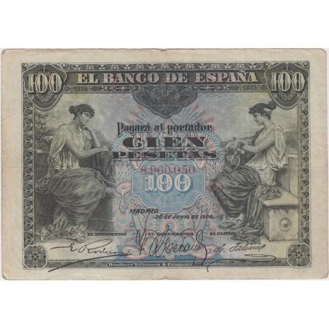1906. Billete 100 Ptas. Alegoría
