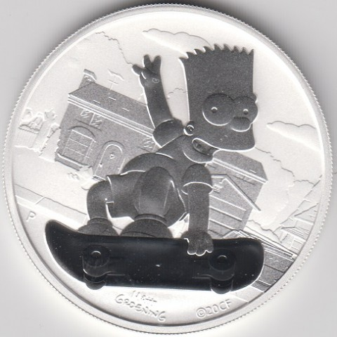 2020.Onza Tuvalu. Bart Simpson