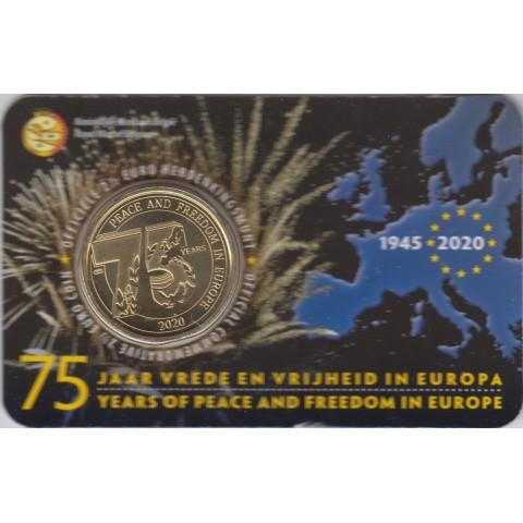 """2020. 2,5 Euros Bélgica. """"75 Años Paz"""""""