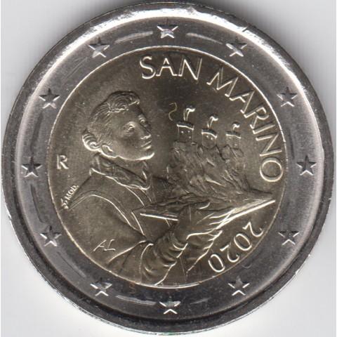 """2020. 2 Euros San Marino. """"Santo Marino"""""""