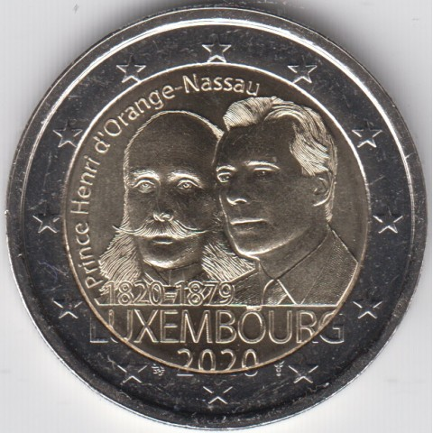 "2020. 2 Euros Luxemburgo ""Henry"""