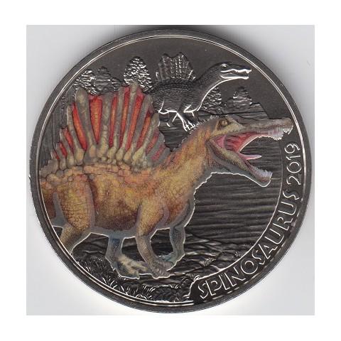 2019. Moneda 3 euros Austria. Espinosaurus