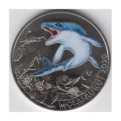 2020. Moneda 3 euros Austria. Mosasaurus