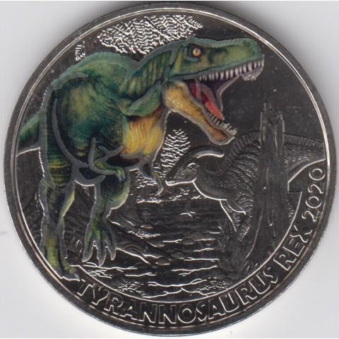 2020. Moneda 3 euros Austria. Tyrannosaurus