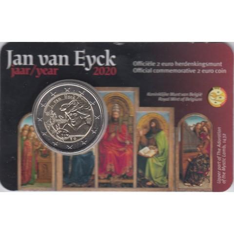 "2020. 2 Euros Belgica ""Van Eyck"""