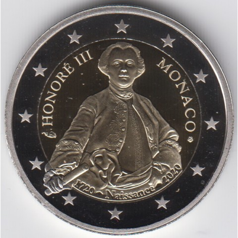 "2020. 2 Euros Monaco ""Honorato III"""