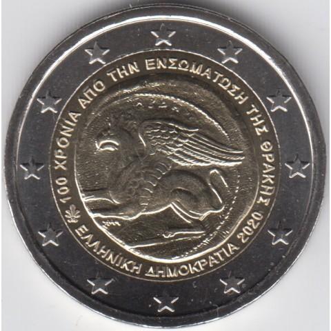 """2020. 2 Euros Grecia """"Tracia"""""""