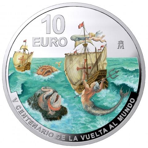 2020. V Centenario Vuelta al Mundo. 10 euros