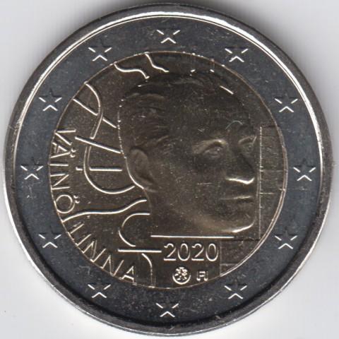"""2020. 2 Euros Finlandia """"Vaino Linna"""""""