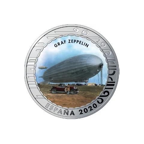 """2020. Aviación. 5 euros """"Graf Zeppelin"""""""