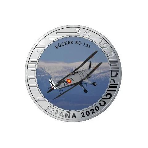 """2020. Aviación. 5 euros """"Bücker BÜ-131"""""""