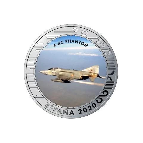 """2020. Aviación. 5 euros """"F-4C Phantom"""""""