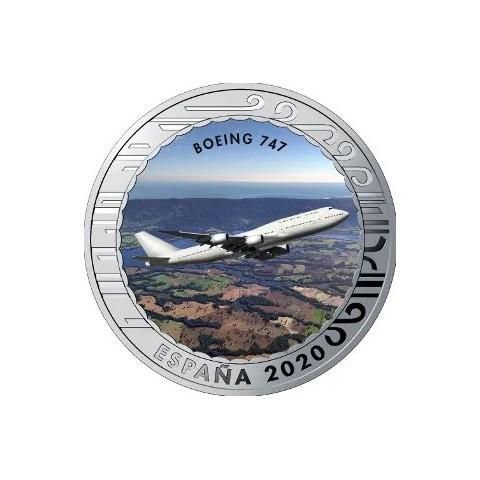 """2020. Aviación. 5 euros """"Boeing 747"""""""