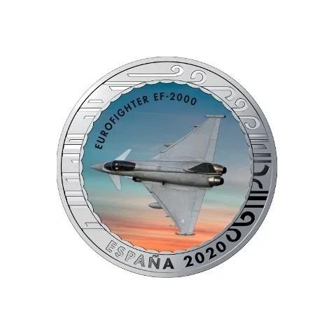"""2020. Aviación. 5 euros """"Eurofighter EF-2000"""""""
