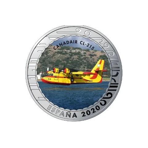 """2020. Aviación. 5 euros """"Canadair CL-215"""""""