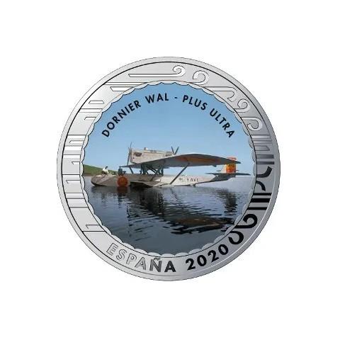 """2020. Aviación. 5 euros """"Dornier Wal - Plus Ultra"""""""