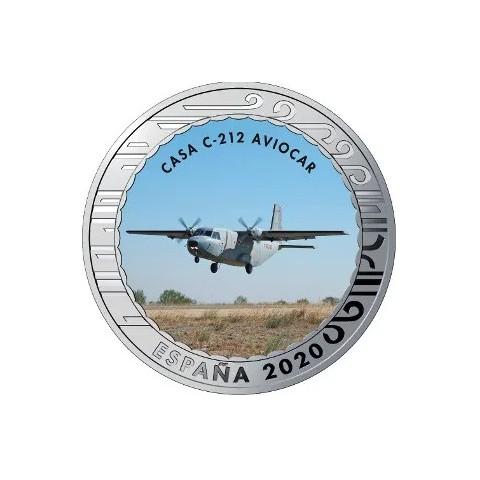 """2020. Aviación. 5 euros """"Casa C-212 Aviocar"""""""