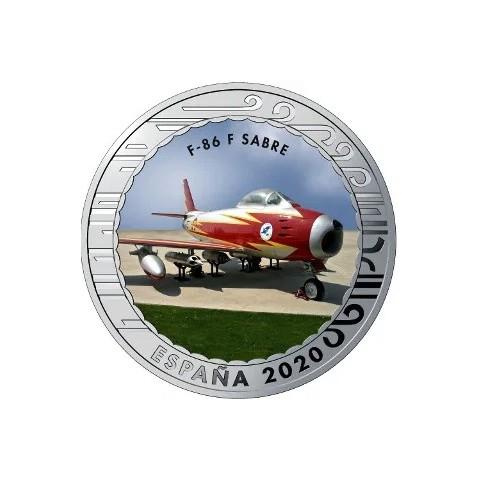 """2020. Aviación. 5 euros """"F-86 F Sabre"""""""