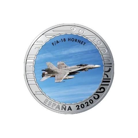 """2020. Aviación. 5 euros """"F/A 18 Hornet"""""""