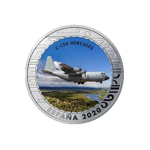 """2020. Aviación. 5 euros """"C-130 Hercules"""""""