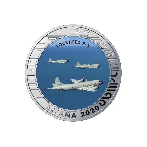 """2020. Aviación. 5 euros """"Lockheed P-3"""""""