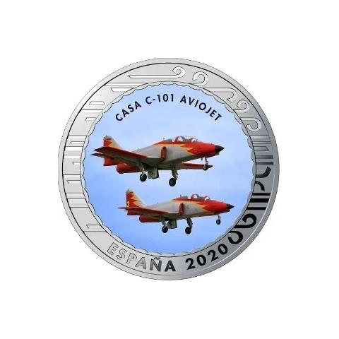 """2020. Aviación. 5 euros """"Casa C-101 Aviojet"""""""