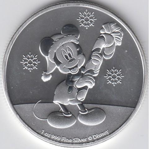 2020. Onza Niue. Mickey Mouse Navidad