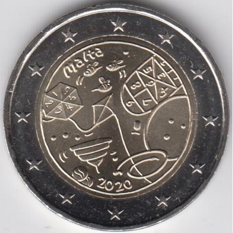 """2020. 2 euros Malta """"Juego"""""""