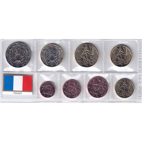 2021. Tira euros Francia