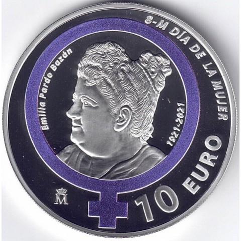 2021. Día de la mujer. Emilia Pardo Bazán. 10 euros