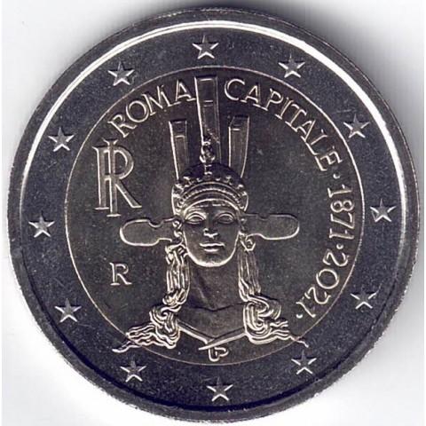 """2021. 2 Euros Italia """"Roma capital"""""""