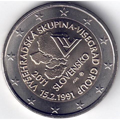 """2011. 2 Euros Eslovaquia """"Visegrado"""""""