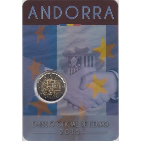 """2015. 2 Euros Andorra """"Acuerdo Aduanero"""""""