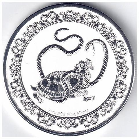 2021. Onza Niue. Tortuga negra