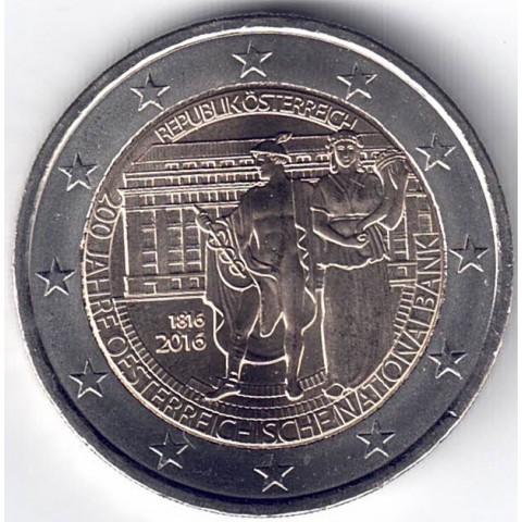 """2016. 2 Euros Austria """"Banco Nacional"""""""