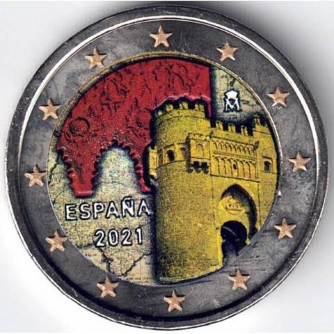 """2021. 2 euros España """"Toledo"""" color (version 2)"""