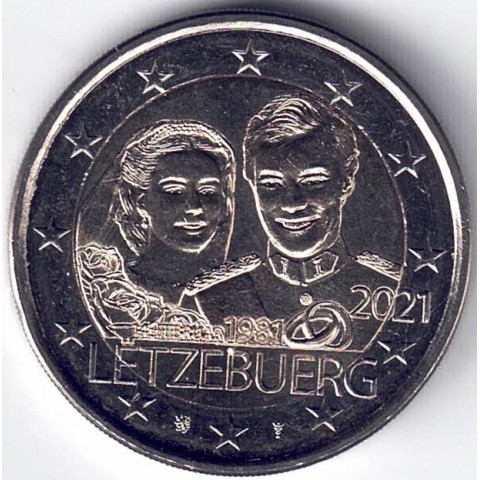 "2021. 2 Euros Luxemburgo ""Boda"""