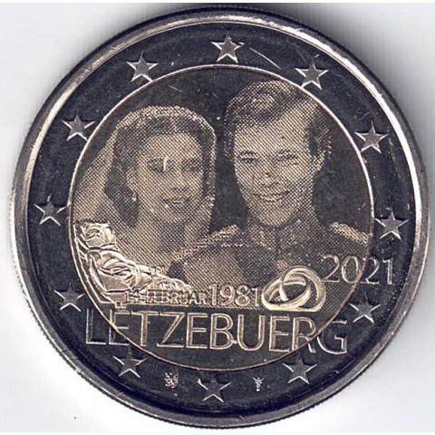 "2021. 2 Euros Luxemburgo ""Boda"" Holograma"