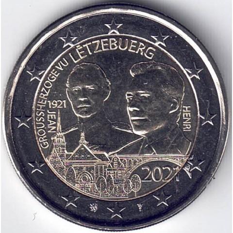 """2021. 2 Euros Luxemburgo. """"Jean"""""""