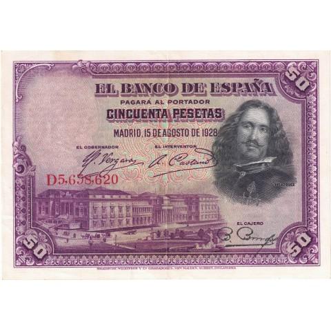 1928. 50 Ptas Velazquez