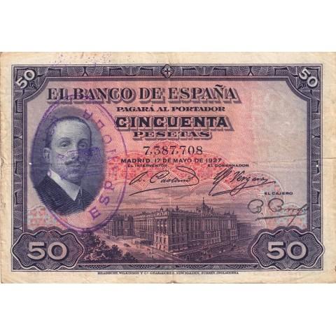 1927. 50 Ptas Alfonso XIII