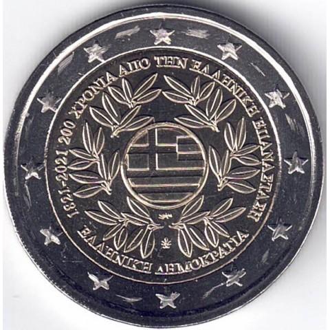 """2021. 2 Euros Grecia """"Revolución Griega"""""""