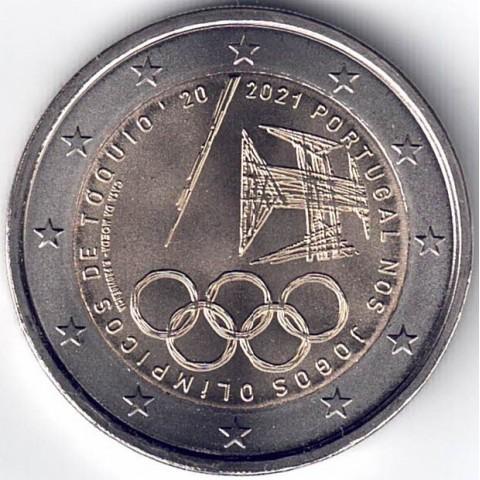 """2021. 2 Euros Portugal """"Juegos Olimpicos"""""""